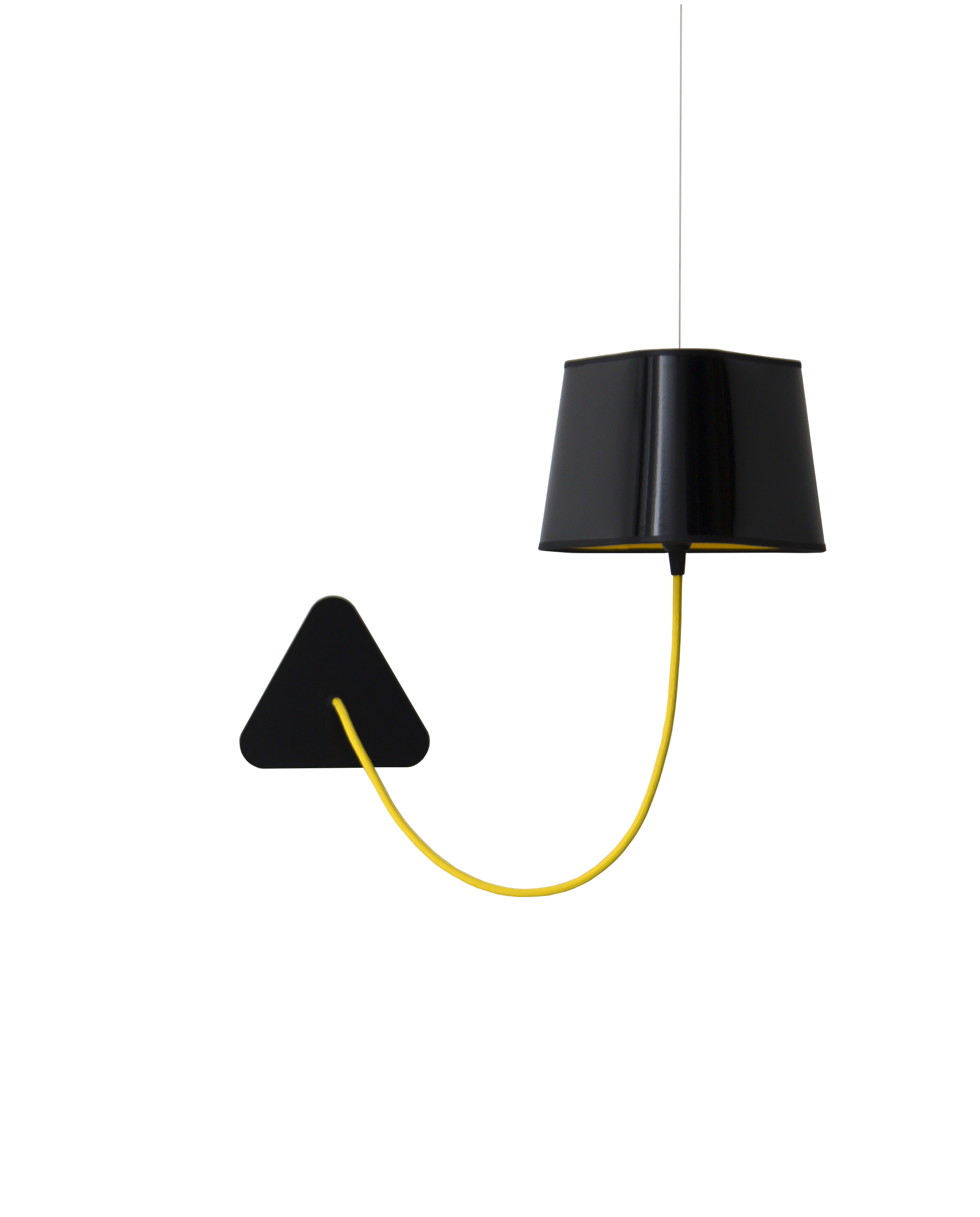 applique murale suspendue petit nuage noir jaune 24cm designheure luminaires nedgis. Black Bedroom Furniture Sets. Home Design Ideas