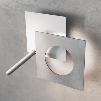Applique murale petra 21 blanc aluminium satine led 2700k 2598lm o21cm h21cm icone normal