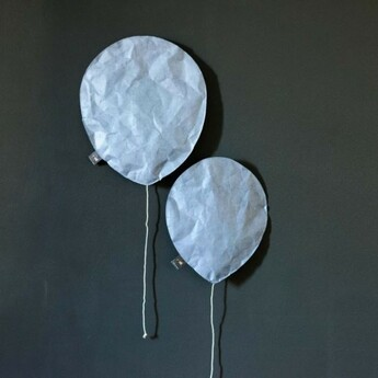Applique murale pewter blue lighting balloon small bleu o22cm h26cm ekaterina galera normal