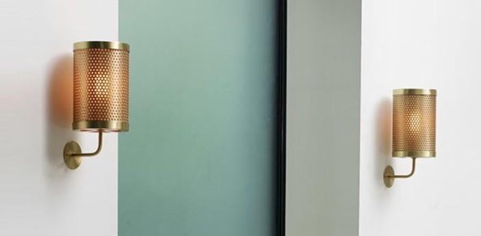 Applique murale pierre laiton o15cm h30cm cto lighting normal