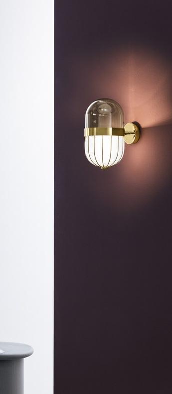 Applique murale pill blanc laiton l16cm h28cm mm lampadari normal