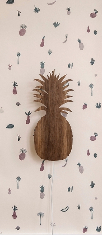 Applique murale pineapple marron led l17 5cm h38cm ferm living normal