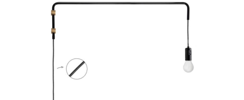 Applique murale pivot 180 noir et laiton o80cm h20cm zangra normal