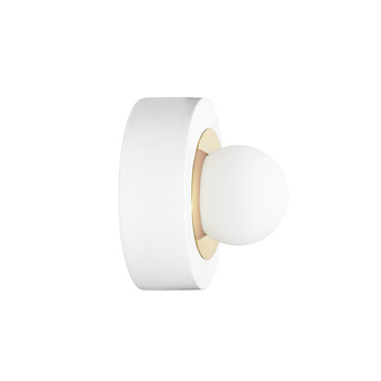 Applique murale plafonnier 3 02 blanc laiton led o27cm 16cm haos normal