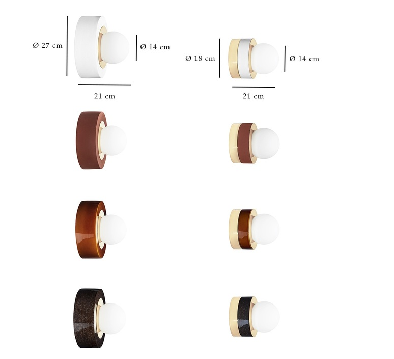 3 01 sophie gelinet et cedric gepner applique murale wall light  haos 3 01 cognac  design signed 88898 product