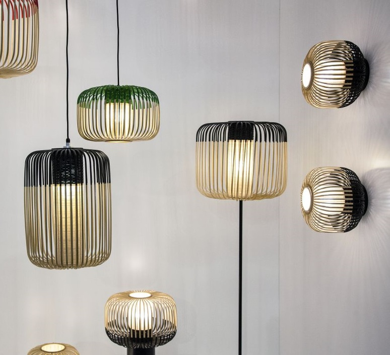 Bamboo light m black  arik levy  forestier al32190mba luminaire lighting design signed 31477 product