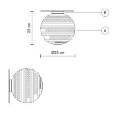 Plafonnier braille matteo ugolini applique murale wall light  karman pl144 1b int   design signed 37669 thumb