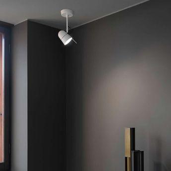 Applique murale plafonnier counterbalance d73a blanc led 2700l 800lm l28cm h11 7cm luceplan normal