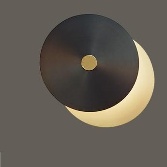 Applique murale plafonnier eclipse xl laiton satine noir led o38cm cvl normal