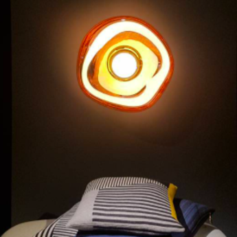 Applique murale plafonnier et lampe a poser melt surface cuivre o50cm 50cm tom dixon normal
