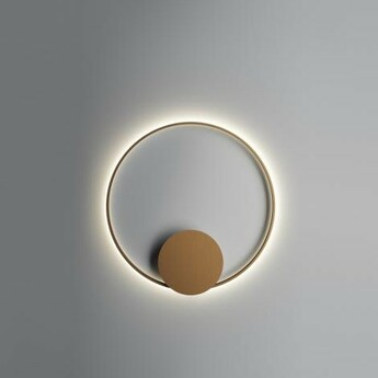 Applique murale plafonnier olympic f45 bronze ip40 led dimmable 2700k l80cm h80cm fabbian normal