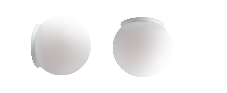 Applique murale plafonnier pure porcelaine blanc ip65 o20cm h20cm zangra normal