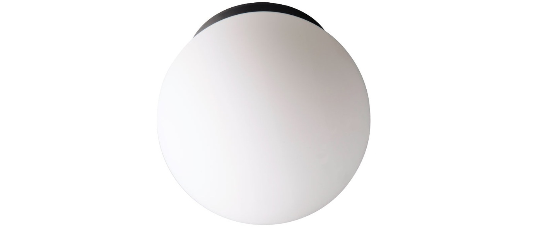 Applique murale plafonnier pure porcelaine noir blanc ip65 o20cm h20cm zangra normal