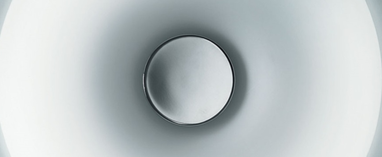 Applique murale planet p pl65 led blanc chrome led 3000k 6000lm o65cm h8 5cm leucos normal