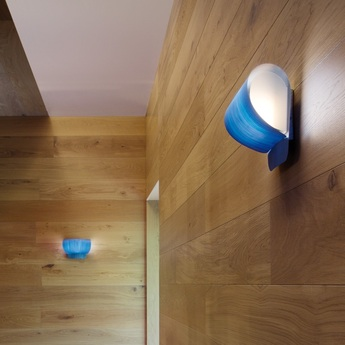 Applique murale pleg bois bleu h18cm lzf normal