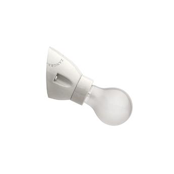 Applique murale porcelaine blanche grisee blanc h8cm l7 5cm zangra normal