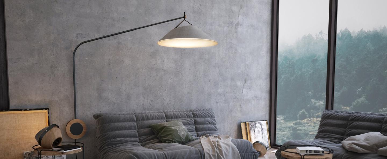 Applique murale potence gris o70cm h120cm kngb normal