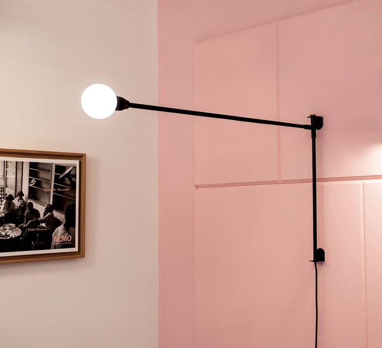 Potence pivotante mini charlotte perriand applique murale wall light  nemo lighting pom hnw 31  design signed 82423 product
