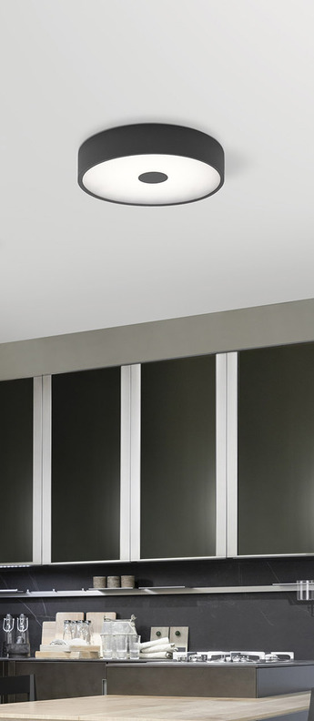 Applique murale punto anthracite led o50cm h50cm lumen center italia normal