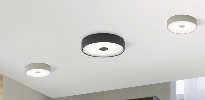 Applique murale punto p gris led o35cm h35cm lumen center italia normal