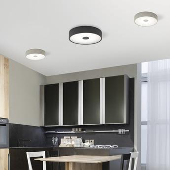 Applique murale punto p gris led o35cm h35cm lumen center italia normal