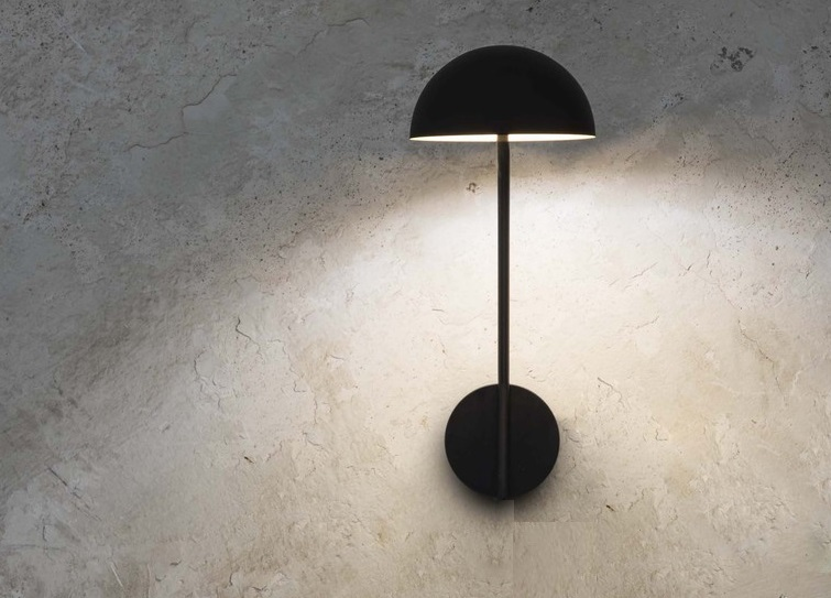 Wall light pure led black gold led Øcm h cm faro