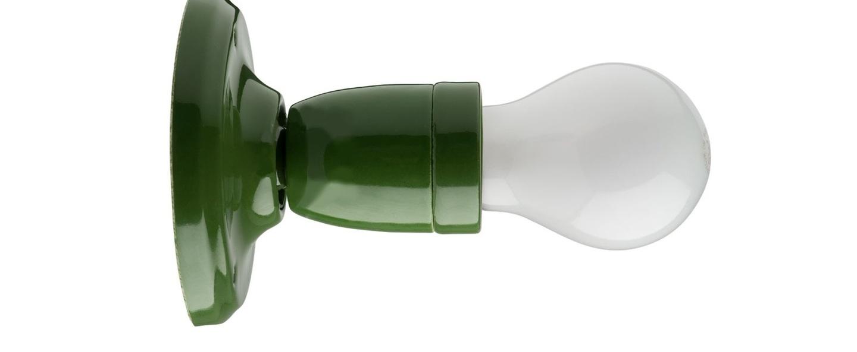 Applique murale pure porcelaine vert o10cm h9cm zangra normal