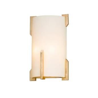 Applique murale quantum laiton verre opalin o20cm h32cm hudson valley lighting group normal
