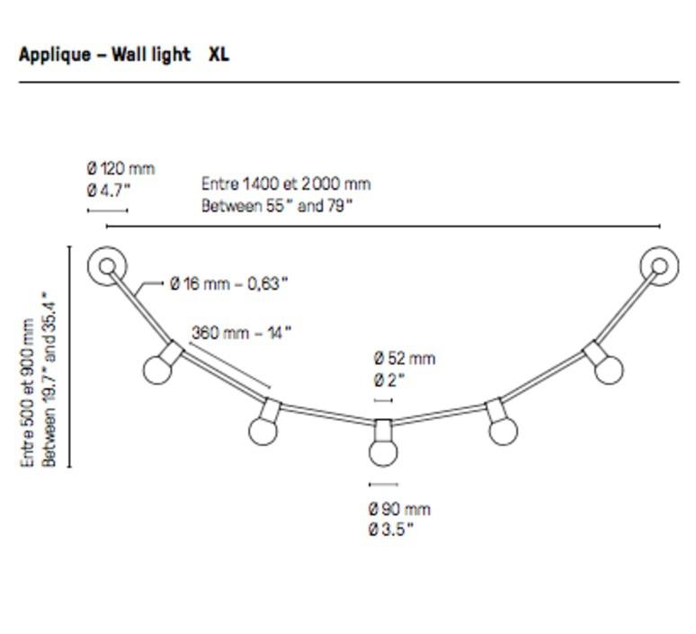 Quatorze juillet xl  applique murale wall light  cvl 14juillet wall xl  design signed 70830 product