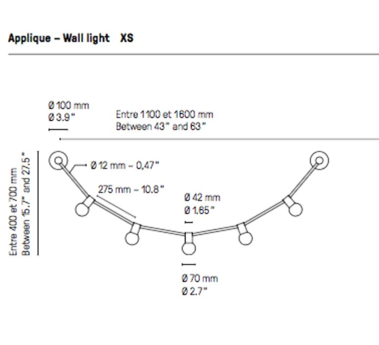 Quatorze juillet xs  applique murale wall light  cvl 14juillet wall xs  design signed 53508 product