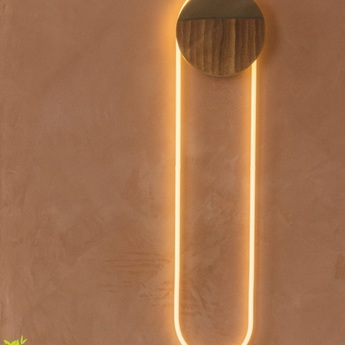 Applique murale ra bronze led 2800k 1800lm l25 4cm h110cm d armes normal