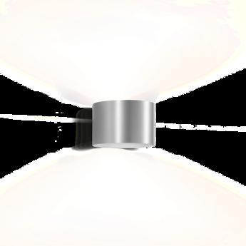 Applique murale ray 1 0 aluminium brosse o15cm h10cm wever ducre normal