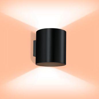 Applique murale ray 3 0 noir h16cm wever ducre normal
