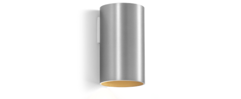 Applique murale ray mini 1 0 aluminium brosse o6 7cm h11 5cm wever ducre normal