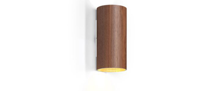 Applique murale ray mini 1 0 bois noyer led o6 7cm h11 5cm wever ducre normal