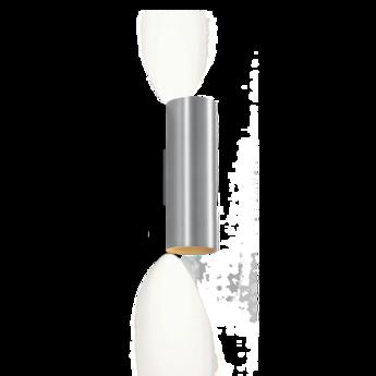 Applique murale ray mini 2 0 aluminium brosse o6 7cm h20cm wever ducre normal