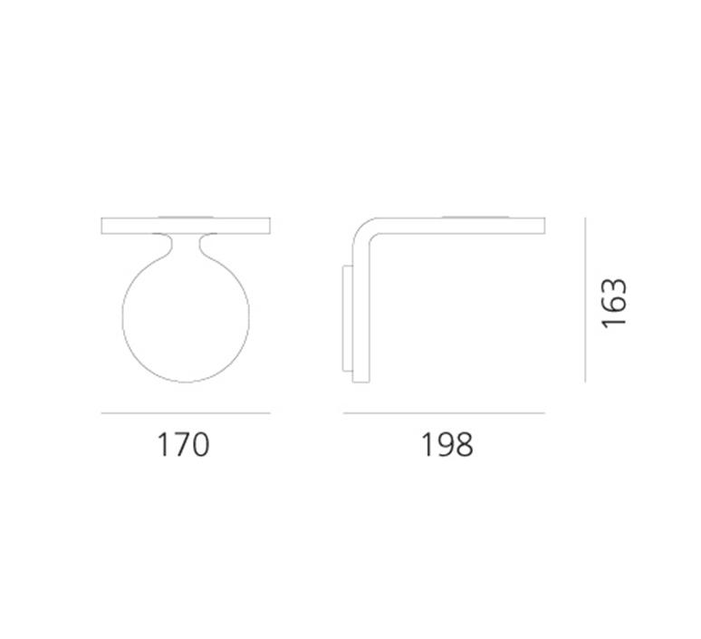 Rea 17 neil poulton applique murale wall light  artemide 1615010a  design signed nedgis 124365 product