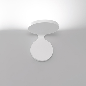 Applique murale rea 17 blanc led 3000k 1950lm l17cm h16 3cm artemide normal