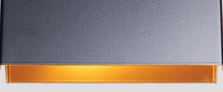 Applique murale rectangle 15cm noir et or o17cm h8cm daniel gallo normal