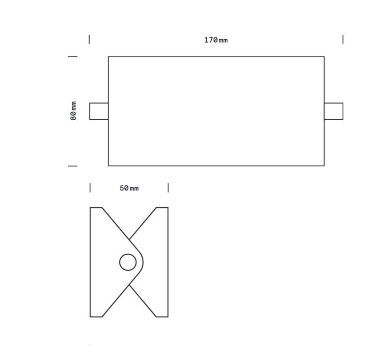 Rectangle 15cm daniel gallo applique murale wall light  daniel gallo rectangle 15cm  design signed 69960 product