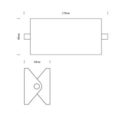 Rectangle 15cm daniel gallo applique murale wall light  daniel gallo rectangle 15cm  design signed 69960 thumb