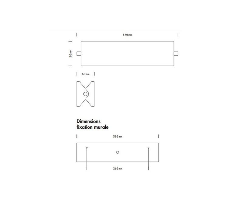 Rectangle 35cm daniel gallo applique murale wall light  daniel gallo rectangle 35cm  design signed 80018 product