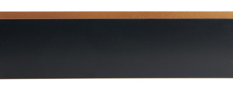Applique murale rectangle 35cm noir et or o37cm h8cm daniel gallo normal