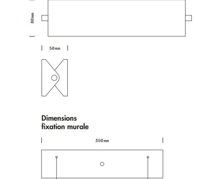 Rectangle 35cm daniel gallo applique murale wall light  daniel gallo rectangle 35cm  design signed 80010 product