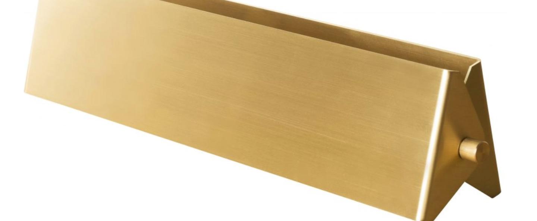Applique murale rectangle laiton 35 cm laiton l37cm h8cm daniel gallo normal