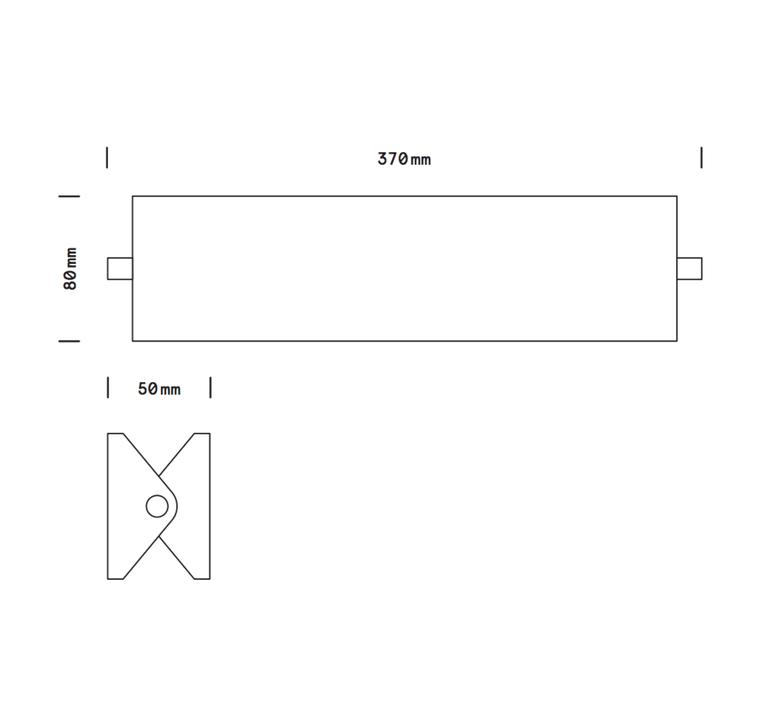 Rectangle laiton 35 cm daniel gallo applique murale wall light  daniel gallo rectangle laiton 35cm  design signed nedgis 81663 product