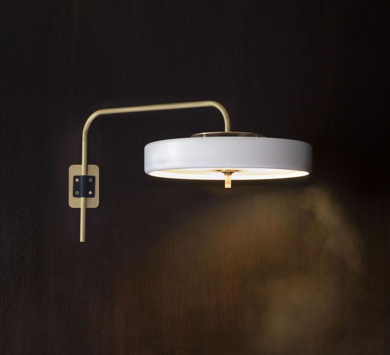 Revolve   applique murale wall light  bert frank revolve wall light white  design signed 36528 product