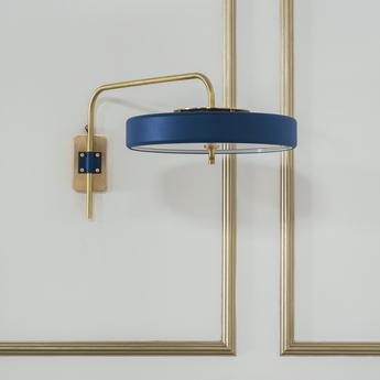 Applique murale revolve bleu led o65cm h31cm bert frank normal