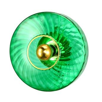Applique murale roxanne petite vert emeraude o20cm h12cm elements lighting normal