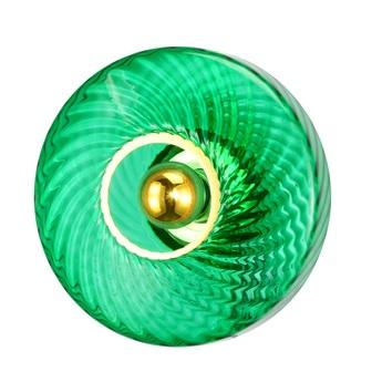 Applique murale roxanne vert emeraude o28cm h15cm elements lighting normal